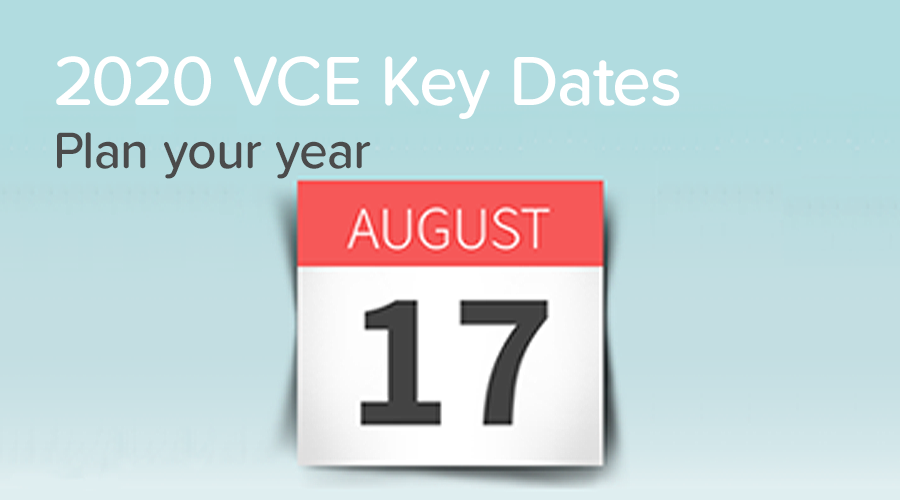 Banner of Key Dates for the 2020 School Year
