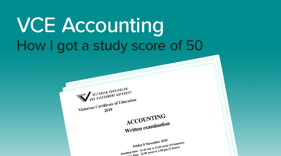 Banner of How to get a 50 in Accounting
