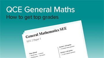 Thumbnail of How to get a 90+ in QCE General Maths!