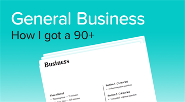 Thumbnail of How to get a 90+ in General Business! Advice from an expert student.