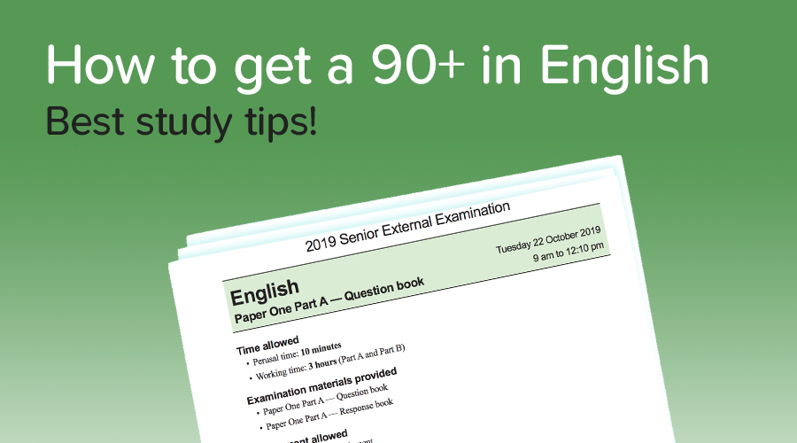 Banner of How to get a 90+ in English!