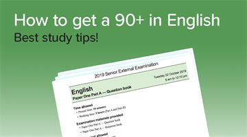 Thumbnail of How to get a 90+ in English!